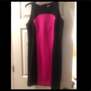 Never worn Michael Kors pink and black dress